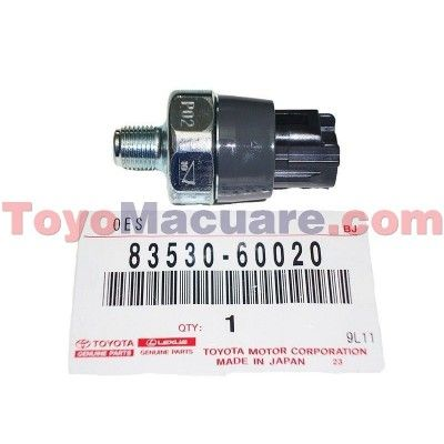 83530-60020 Valvula Presion Aceite Camry, Corolla,  Fortuner, Hiace, 4Runner, Hilux, Previa, Yaris